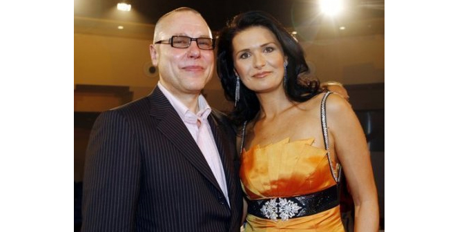 Bakala with his wife, ex-Miss Czech Republic, Michaela Maláčová