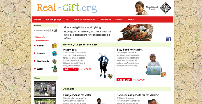 Real Gift Website