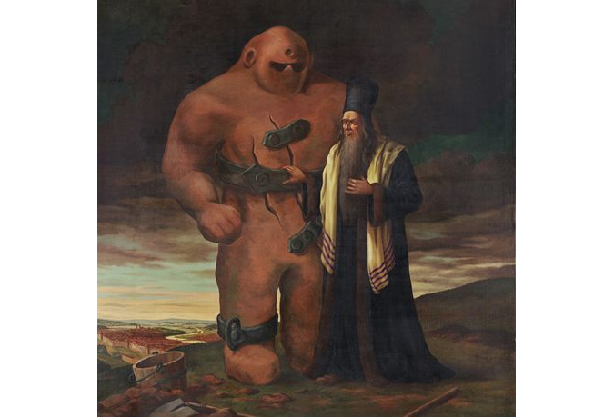 Rabbi Loew and his Golem