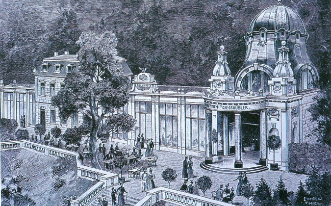 The Otto Spring with a new colonnade in 1902