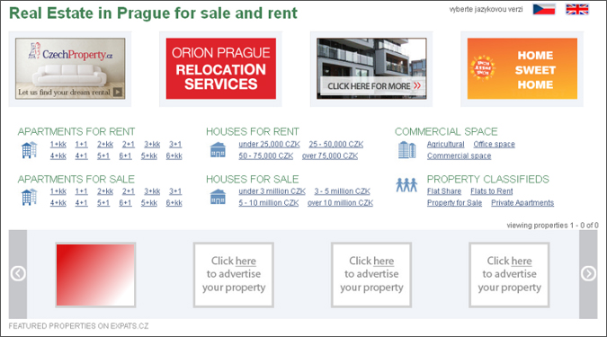 Spotlight na homepage Real Estate
