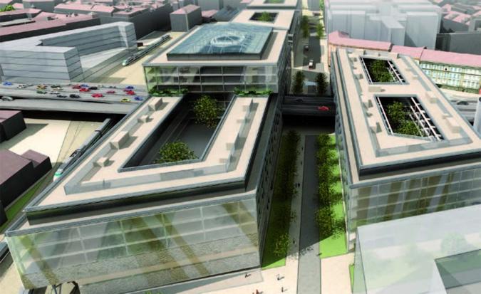 Early plan for Masarykovo nádraží redevelopment