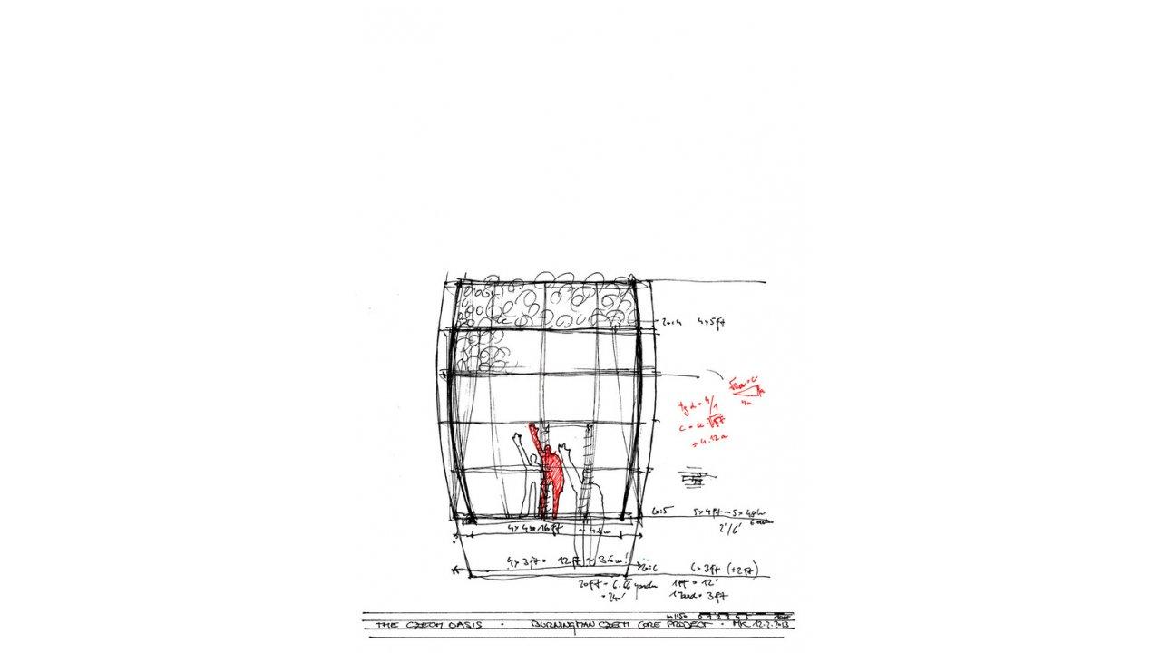 Architect Martin Kloda's sketches
