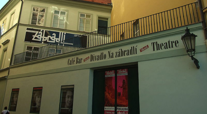 Na Zábradlí's historical significance pre-dates Havel