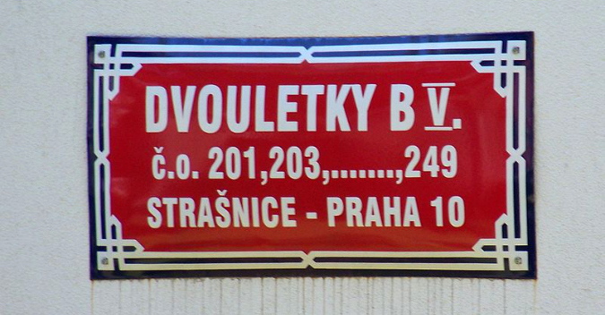 Dvouletky Street, just one among many reminders of the communist past