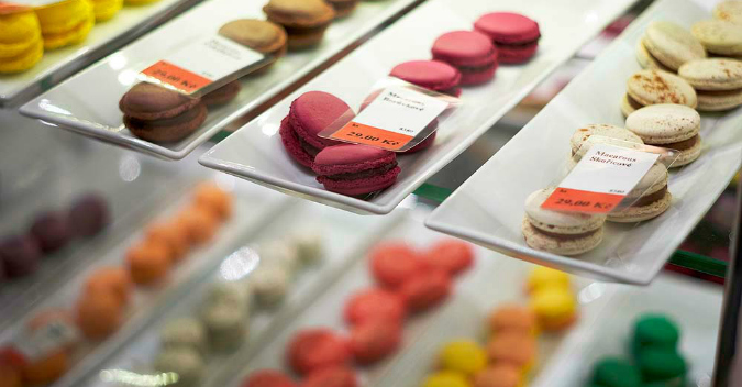 Colorful macarons and more