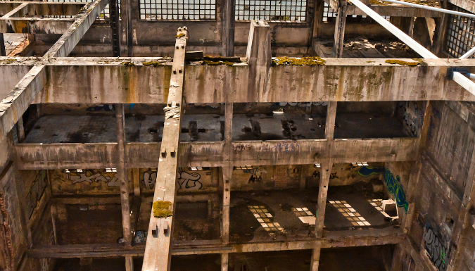 A bird's-eye view of factory blight