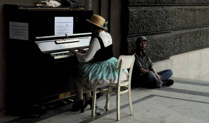 One of Kobza's Pianos on the Street