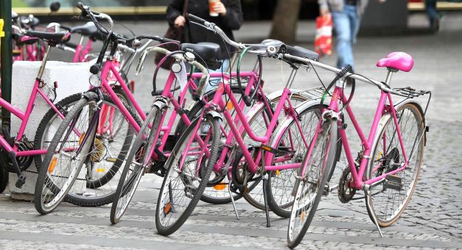 Borrow a pink bike!