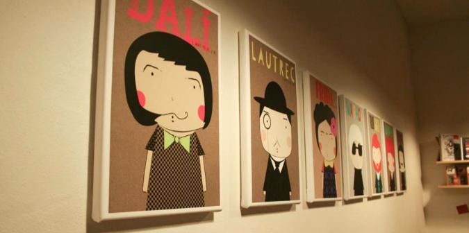 Little Artists on display at Prague's Fox&Deer