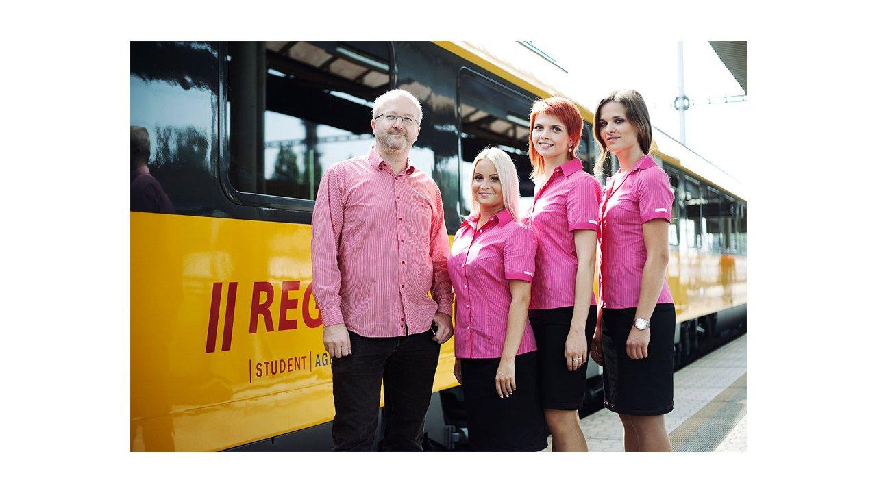 Radim Jančura with RegioJet's crew