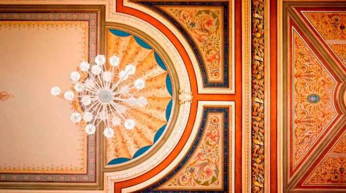 Café Savoy's legendary ceiling