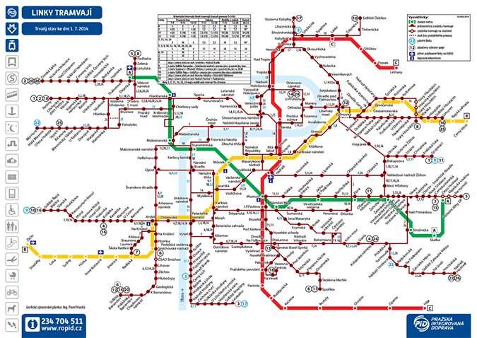Prague Tram Map Prague Czech Republic – Prague Tourist Map