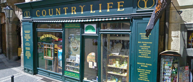 Country Life - Health-food store in Melantrichova Street
