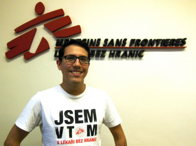 Enrique in the MSF Czech Republic offices.