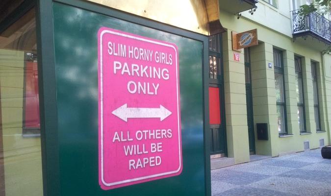 Karlín Parking Sign Stirs Social Media Outrage