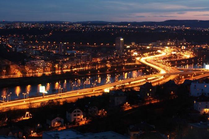 Barrandov Bridge by night/Image: Wikipedia @Wantox
