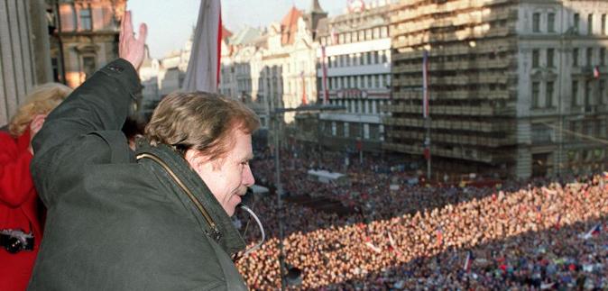 Václav Havel in 1989 - The first post-communist president of ČSFR
