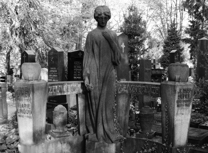 Linda, Vinohradské hřbitovy, 1906