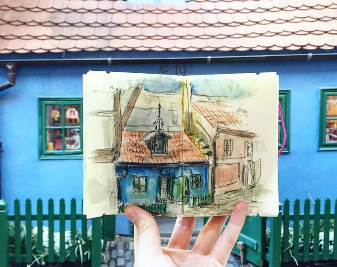 A Sketch of Prague, Every Day for a Year