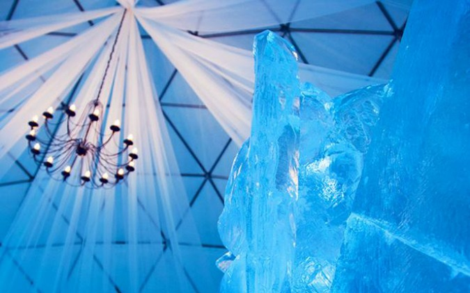 Real-Life Ice Kingdom Opens in Czech Mountains