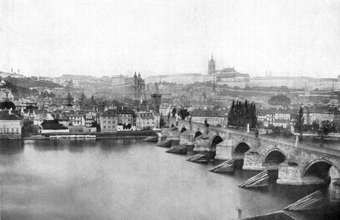 Panorama of Malá Strana, 1856