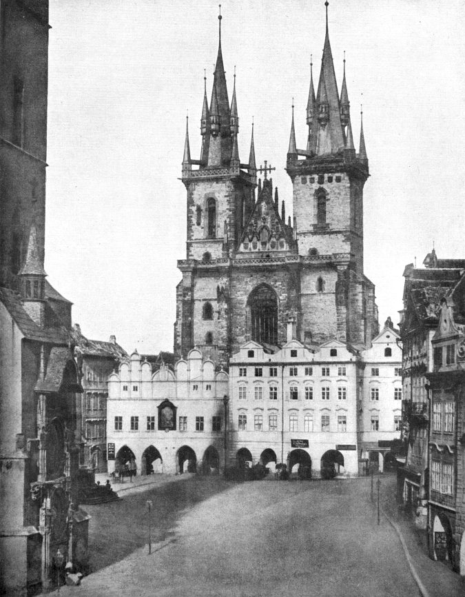 Astronomical Clock & Týn Church, 1856