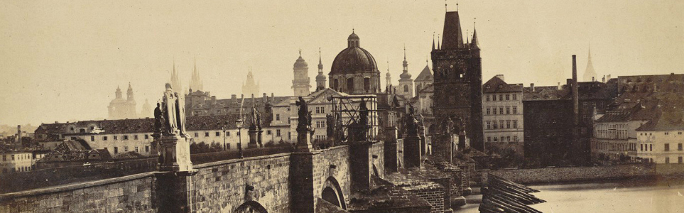 View of Charles Bridge from Malá Strana, 1855-6 (City Gallery Prague)