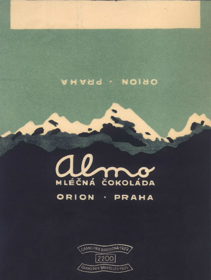 Vintage Czechoslovak Chocolate Ads On Display
