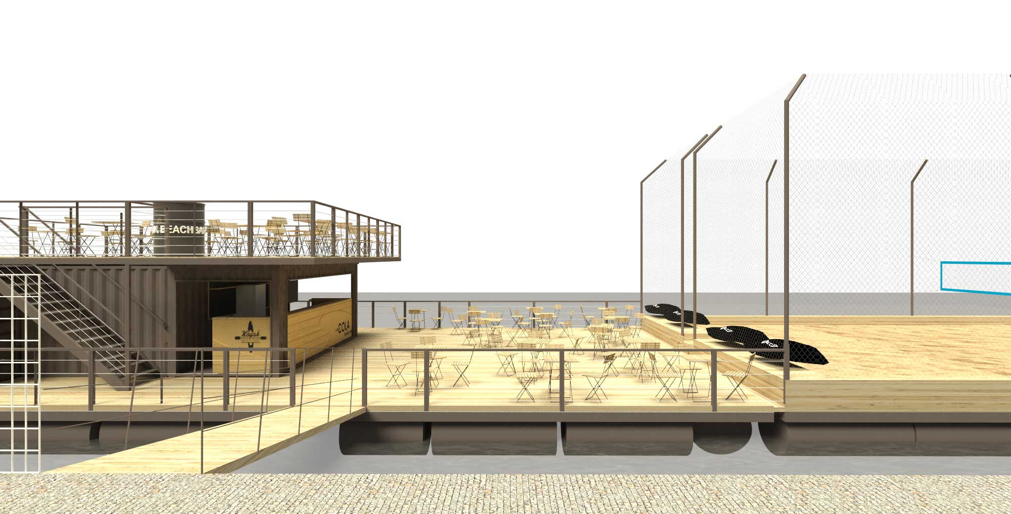Artist's conception: Kayak Beach Bar