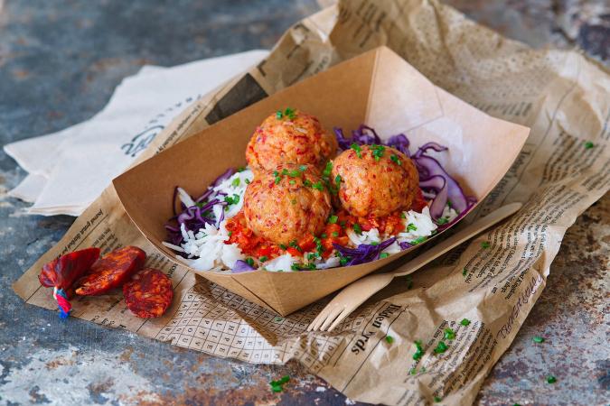 Pork & chorizo balls