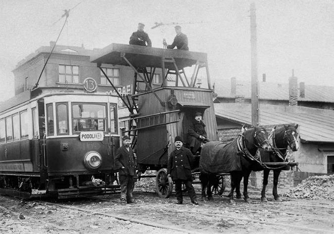 Tram number 13 went to Podolí between 1924-1927; Photo: Unknown ©HISTORICKE-FOTO.CZ