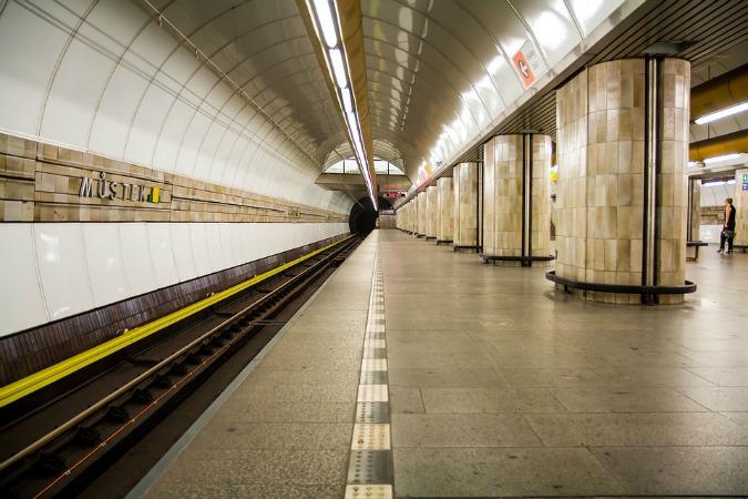 Metro station Můstek in central Prague