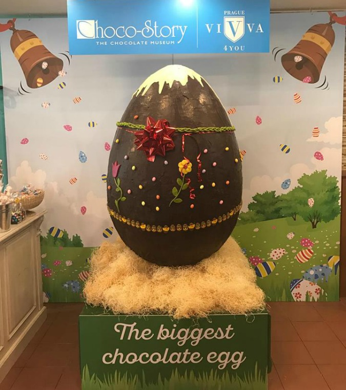 Prague Museum Boasts Largest Chocolate Egg in Central Europe