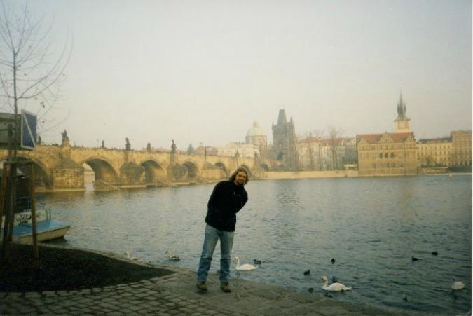 The author in Prague, 2001.