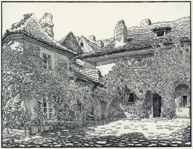 Courtyard of U Milosrdných Street (Today St. Agnes Convent)