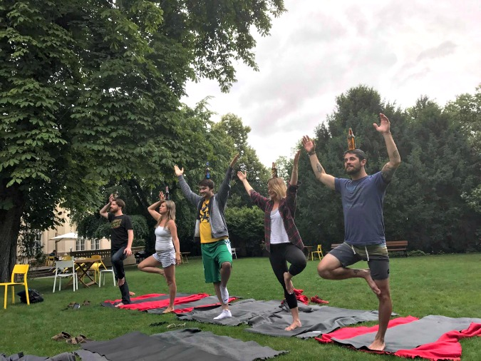 Find Your Pivo-Soaked Bliss: Beer Yoga Comes to Prague