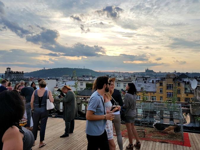 Photo: Lucerna rooftop / Facebook @Karel Kája Smola