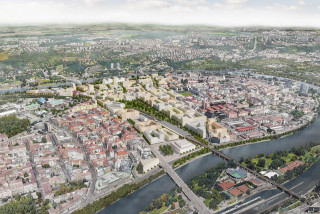 A new neighborhood for 25,000 people could arise in Prague's Bubny brownfield
