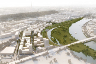 Plans for Prague's Rohanský ostrov include a park on a new island