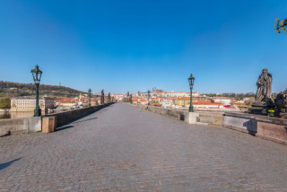 In photos: Take a high-res virtual stroll across the deserted Charles Bridge