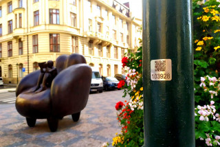Prague is adding QR codes to lamp poles to help residents and tourists