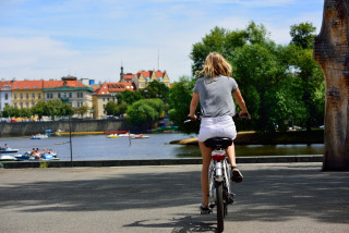 Prague residents turn to cycling as a healthier mode of transport during coronavirus restrictions