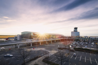 Exterior of Václav Havel Airport in Prague, Czech Republic via iStock / Chalabala