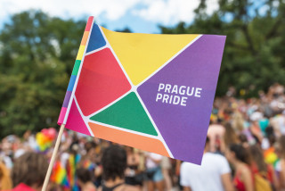 Prague City Hall raises rainbow flag today in support of Prague Pride