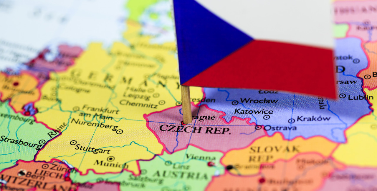 Map of central Europe with Czech flag via iStock / Pawel Gaul