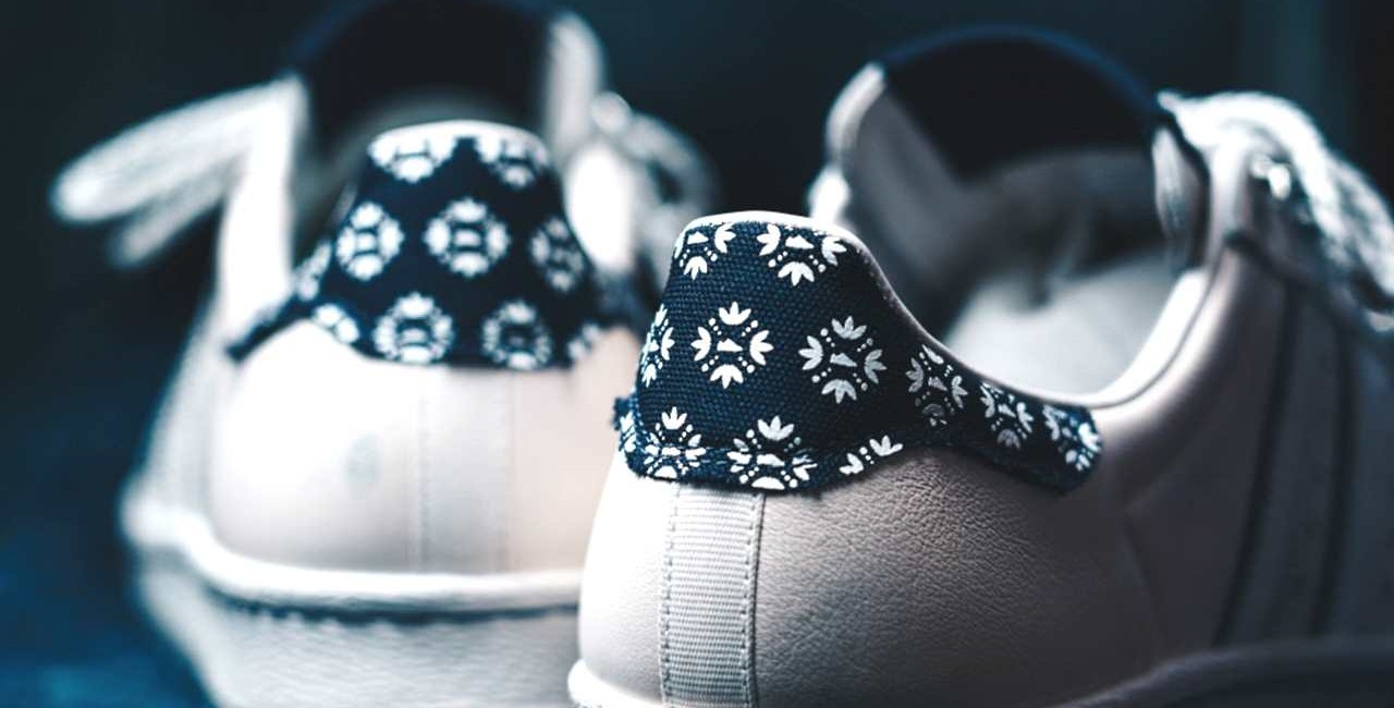 Limited edition Footshop x adidas Superstar 'Blueprinting' / via Footshop