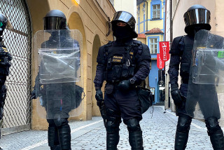 More than 100 protesters arrested in Prague's Old Town Square