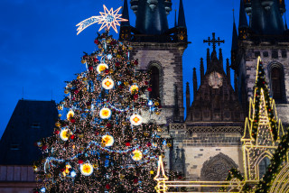Prague's Old Town Christmas market canceled but the tree will shine on as a symbol of the season