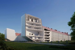 Prague's Baroque Invalidovna complex will get modern glass wings as part of its renovation